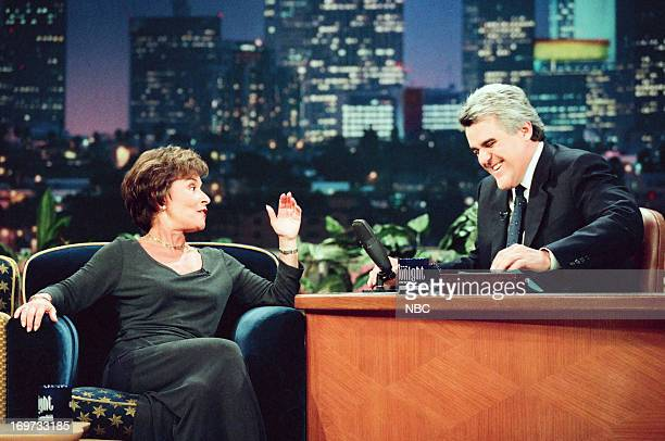 Judge Judy Sheindlin host Jay Leno during an interview on December 3 1998