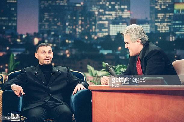 Episode 1503 -- Pictured: Boxer Prince Naseem Hamed, host Jay Leno during an interview on December 4, 1998 --