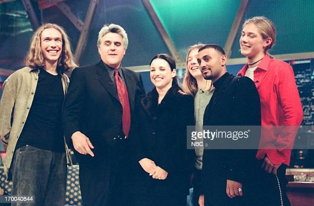 Musician Isaac Hanson host Jay Leno actress Julia LouisDreyfus musician Zac Hanson boxer Prince Naseem Hamed musician Taylor Hanson on December 4 1998