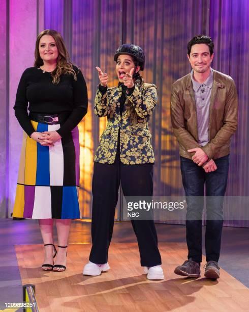 Episode 151 -- Pictured: Lauren Ash, Lilly Singh, Ben Feldman --