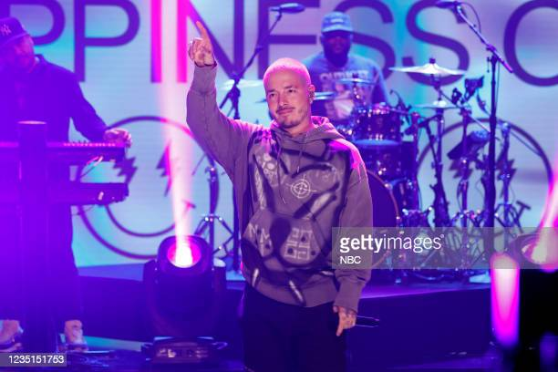 Episode 1511 -- Pictured: Musical guest J Balvin performs on Thursday, September 9, 2021 --