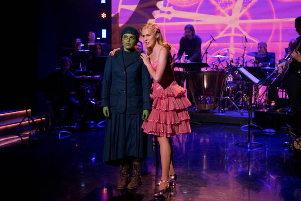 """NY: NBC's """"Tonight Show Starring Jimmy Fallon"""" with guests Jennifer Aniston, Amandla Stenberg, A PERFORMANCE FROM """"WICKED"""""""