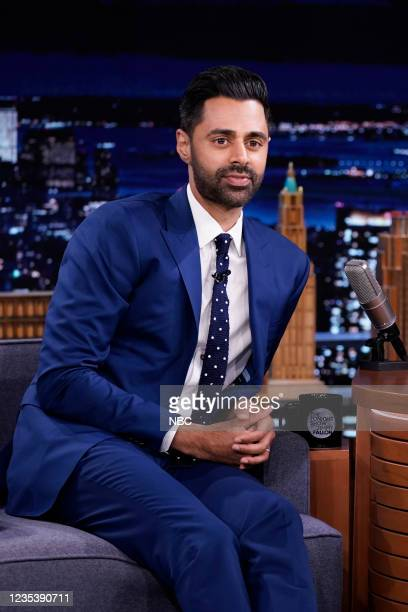 Episode 1518 -- Pictured: Comedian Hasan Minhaj during an interview on Monday, September 20, 2021 --