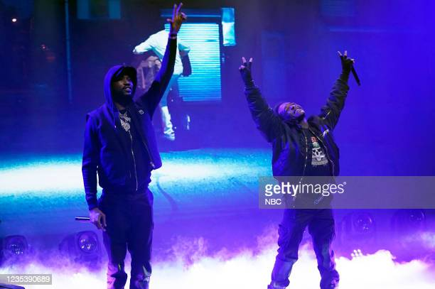 Episode 1518 -- Pictured: Musical guest Meek Mill ft. Lil Uzi Vert performs on Monday, September 20, 2021 --