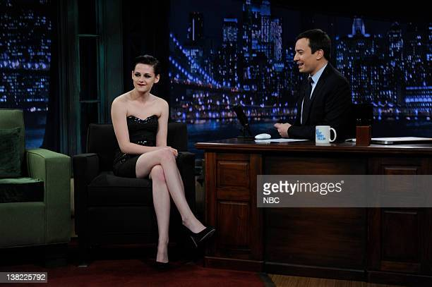 FALLON Episode 152 Airdate Pictured Actress Kristen Stewart during an interview with Jimmy Fallon on November 18 2009