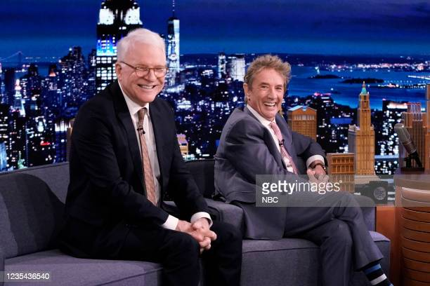 Episode 1520 -- Pictured: Actor Steve Martin and actor Martin Short during an interview on Wednesday, September 22, 2021 --