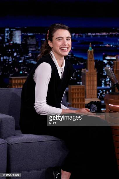 Episode 1520 -- Pictured: Actress Margaret Qualley during an interview on Wednesday, September 22, 2021 --