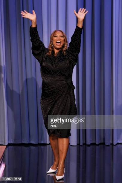 Episode 1529 -- Pictured: Actress Queen Latifah arrives on Tuesday, October 5, 2021 --