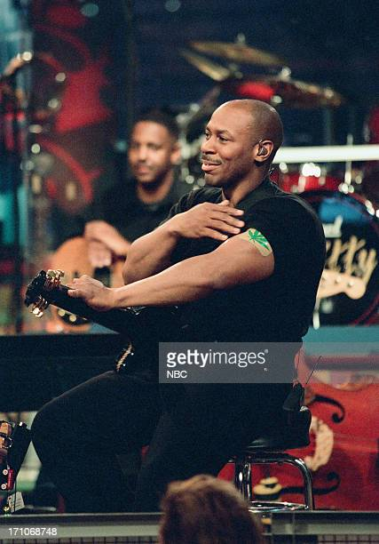 Bandleader Kevin Eubanks during the 'Products of Tomorrow' skit on January 21 1999