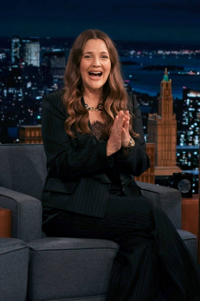"""NY: NBC's """"Tonight Show Starring Jimmy Fallon"""" with guests Drew Barrymore, Mo Rocca, MÅNESKIN"""