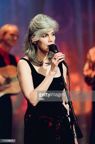 Musicial guest Emmylou Harris performs on February 9 1999
