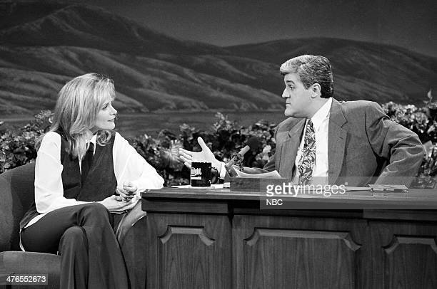 Actress Helen Shaver during an interview with host Jay Leno on January 27 1993