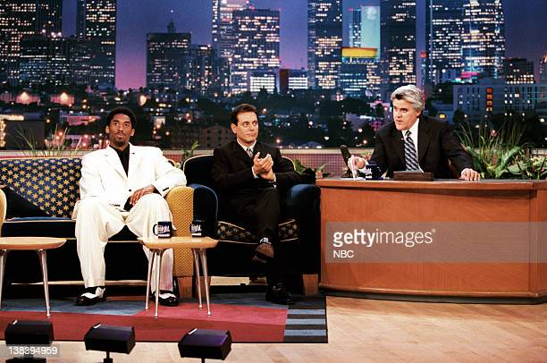 Basketball player Kobe Bryant and actor Lee Perry during an interview with host Jay Leno on April 8 1999