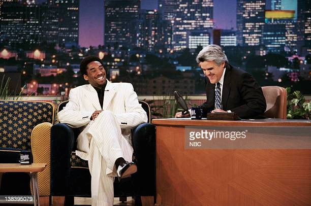 Basketball player Kobe Bryant during an interview with host Jay Leno on April 8 1999