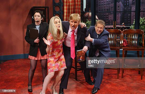 LIVE Episode 16 Air Date Pictured Rachel Dratch as Michael Gelman Amy Poehler as Kelly Ripa Donald Trump Darrell Hammond as Regis Philbin during the...