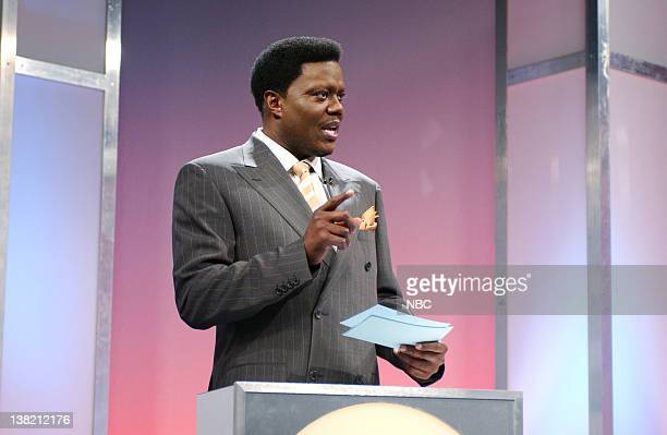 LIVE Episode 16 Aired Pictured Bernie Mac as Lawrence during 'Brain Busters' skit