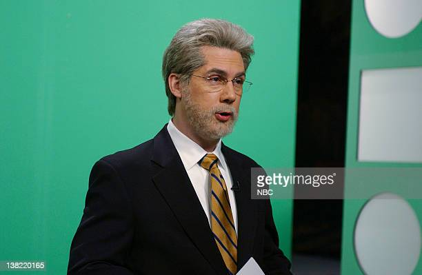 """Episode 16 -- Aired -- Pictured: Chris Parnell as Wolf Blitzer during """"The Situation Room"""" skit on April 15, 2006"""