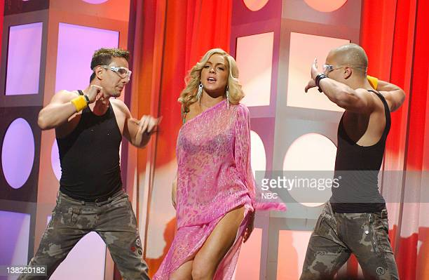 LIVE Episode 16 Aired Pictured Lindsay Lohan as Ambiance during Deep House Dish skit on April 15 2006