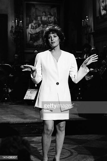 Host Debra Winger during the monologue on March 24 1990 Photo by Raymond Bonar/NBC/NBCU Photo Bank