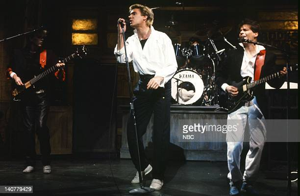 John Taylor Simon Le Bon Andy Taylor Musical guest Duran Duran performs on March 19 1983 Photo by Alan Singer/NBC/NBCU Photo Bank
