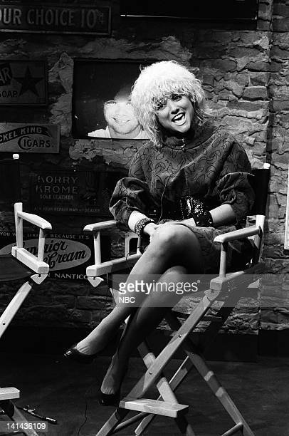 Julia LouisDreyfus as Nina Blackwood during the 'MTV News' skit on April 7 1984 Photo by Alan Singer/NBC/NBCU Photo Bank