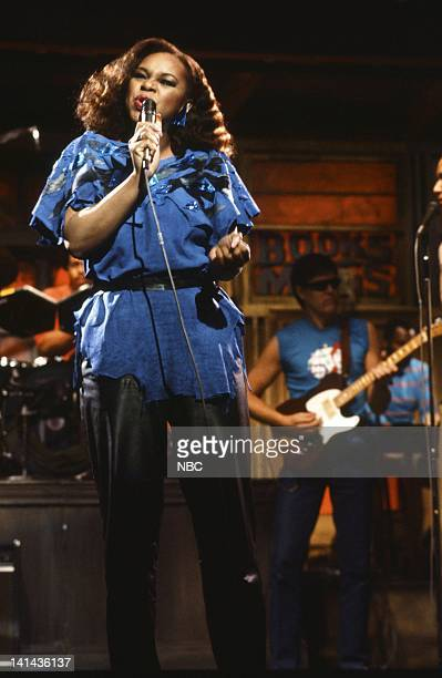 Episode 16 -- Pictured: Musical Guest Denise Williams performs on April 7, 1984 -- Photo by: Alan Singer/NBC/NBCU Photo Bank