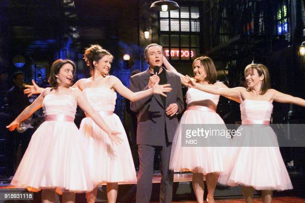Rachel Dratch Ana Gasteyer Christopher Walken Molly Shannon Cheri Oteri during the monologue on April 8 2000