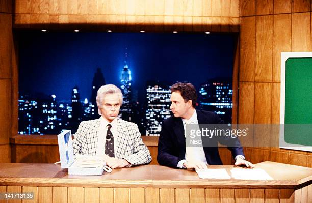 Rich Hall as Paul Harvey Christopher Guest during the 'Saturday Night News' skit on April 6 1985