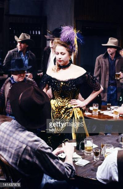 Victoria Jackson as card player during 'The Adventures Of Calamity Jane' skit on March 24 1990 Photo by Raymond Bonar/NBC/NBCU Photo Bank