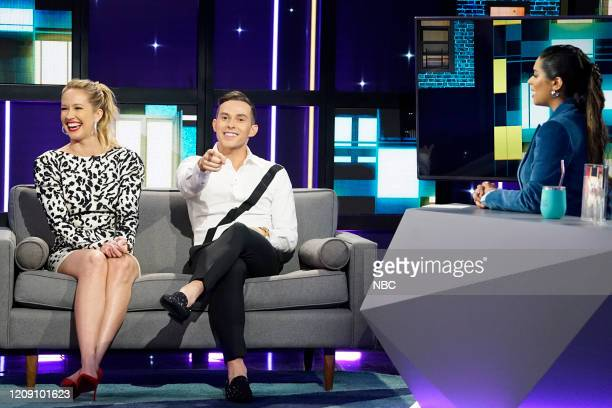 Episode 161 -- Pictured: Anna Camp, Adam Rippon, Lilly Singh --