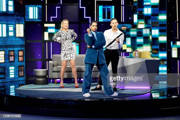 Episode 161 -- Pictured: Anna Camp, Lilly Singh, Adam Rippon --