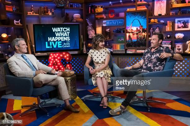 Episode 16134 -- Pictured: Andy Cohen, Alison Brie, Brian Austin Green --