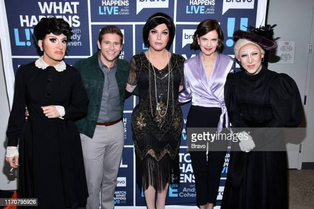 Allen Leech and Elizabeth McGovern with Downton Abbey Drag Queens