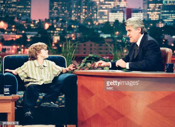 Actor Alex D Linz during an interview with host Jay Leno on June 22 1999