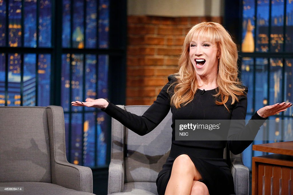 """NBC's """"Late Night with Seth Meyers"""" With Guests Kathy Griffin, Peter Sarsgaard, The Mavericks"""