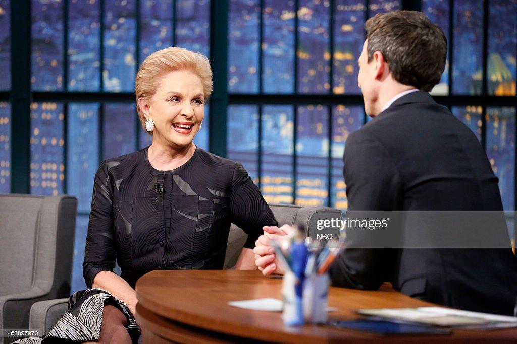 "NBC's ""Late Night with Seth Meyers"" With Guests Zachary Quinto, Mae Whitman, Carolina Herrera"
