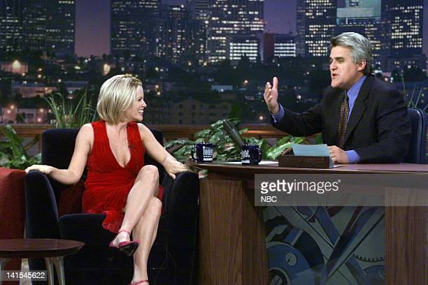 Actress Jenny McCarthy during an interview with host Jay Leno on October 5 1999 Photo by NBC/NBCU Photo Bank