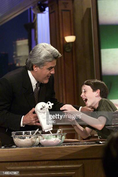 Host Jay Leno during Kid Chefs on October 7 1999