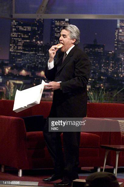 Host Jay Leno eating a donut on October 7 1999 Photo by NBC/NBCU Photo Bank