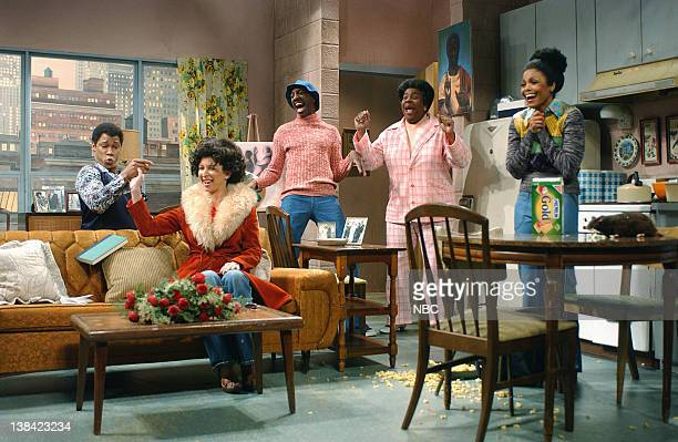 Episode 17 -- Air Date -- Pictured: Finesse Mitchell as Michael, Maya Ruldoph as Thelma, J.B. Smooth as J.J., Kenan Thompson as Florida, Janet...