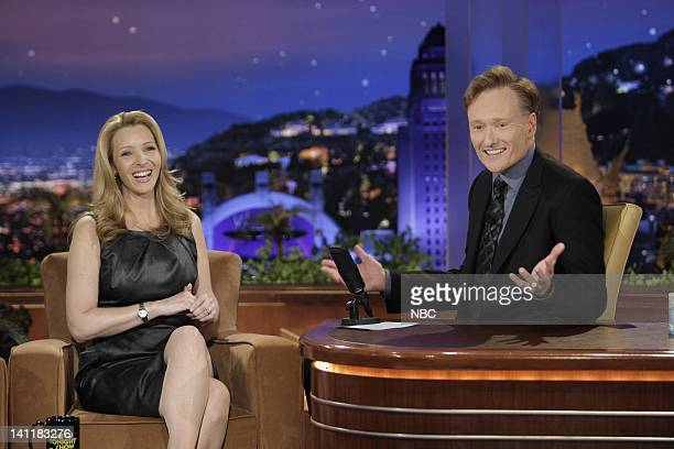 BRIEN Episode 17 Air Date Pictured Actress Lisa Kudrow during an interview with host Conan O'Brien on June 23 2009 Photo by Paul Drinkwater/NBCU...