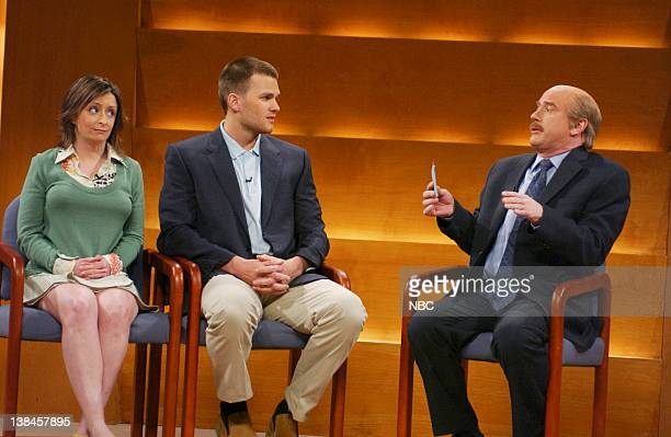 LIVE Episode 17 Aired Pictured Rachel Dratch as Jamie Tom Brady as Ken Darrell Hammond as Dr Phil McGraw during Dr Phil skit