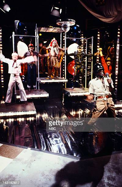 Bill Murray as village person John Belushi as village person Dan Aykroyd as village person Garrett Morris as village person during the 'Rock Concert'...