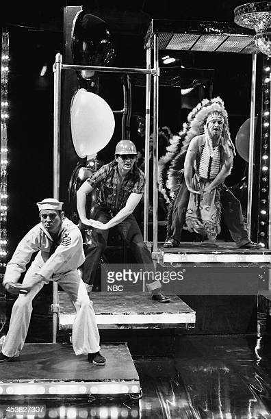 Brian Doyle Murray as village person Bill Murray as village person John Belushi as village person during the 'Rock Concert' skit on April 14 1979...