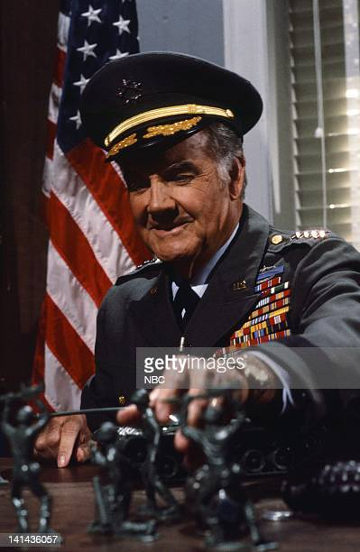 George McGovern as spokesperson during the 'Direct Hits' skit on April 14 1984 Photo by Al Levine/NBC/NBCU Photo Bank