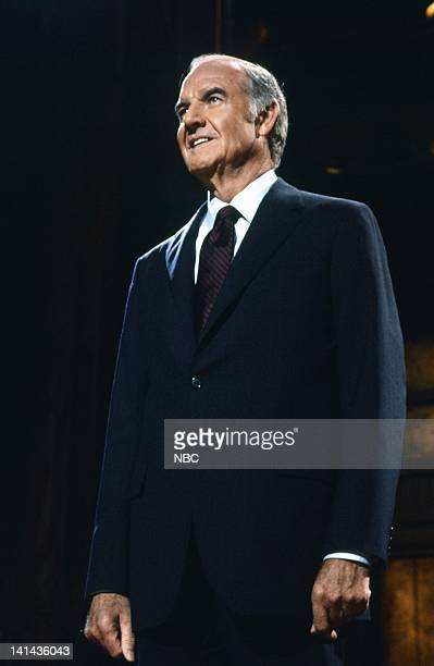 George McGovern during the monologue on April 14 1984 Photo by Al Levine/NBC/NBCU Photo Bank
