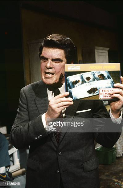 Joe Piscopo as President Ronald Reagan during the 'White House Foods' skit on April 14 1984 Photo by Al Levine/NBC/NBCU Photo Bank