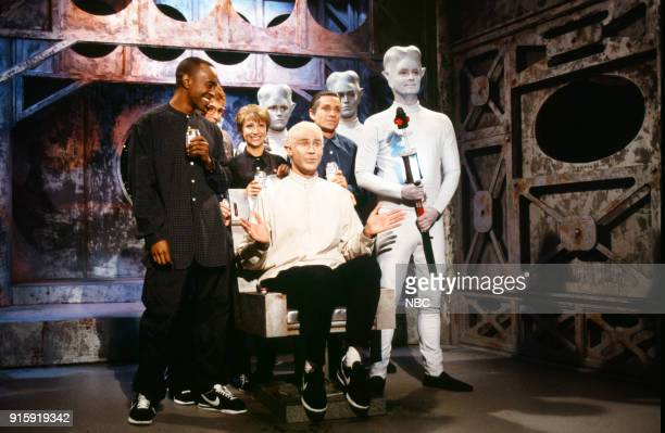 Tim Meadows as cult member Cheri Oteri as cult member Will Ferrell as Marshall Applewhite Chris Kattan as cult member during the 'Nightline' skit on...