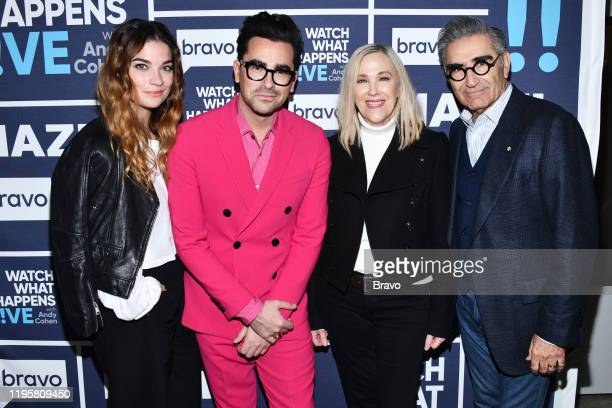 Episode 17015 -- Pictured: Annie Murphy, Daniel Levy, Catherine O'Hara, Eugene Levy --