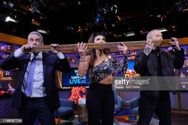 Episode 17022 -- Pictured: Andy Cohen, Teresa Giudice, Bob Harper --